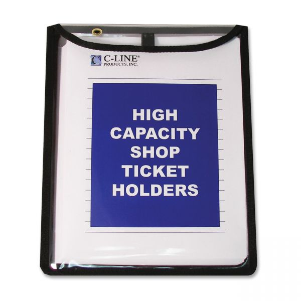 C-Line High Capacity Stitched Shop Ticket Holders