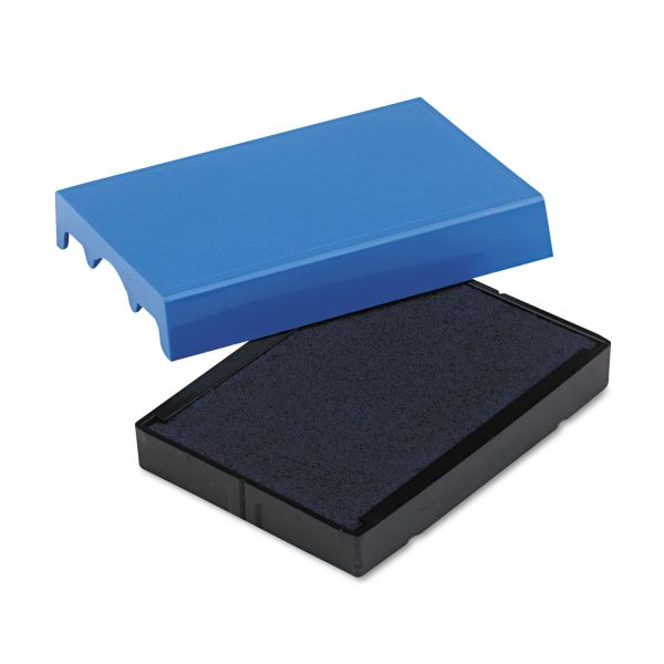 Identity Group Trodat T4729 Dater Replacement Pad, 1 9/16 x 2, Blue