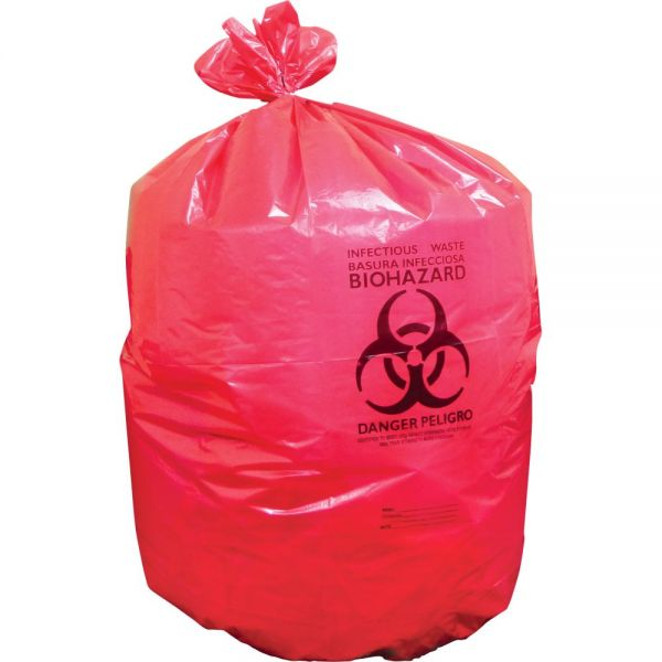 Heritage Red Biohazard Trash Bags