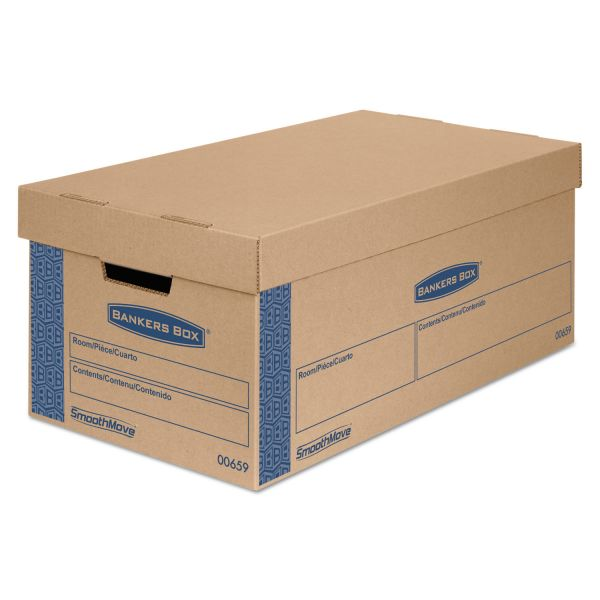 Bankers Box SmoothMove Prime Small Moving Boxes with Lift-Off Lids