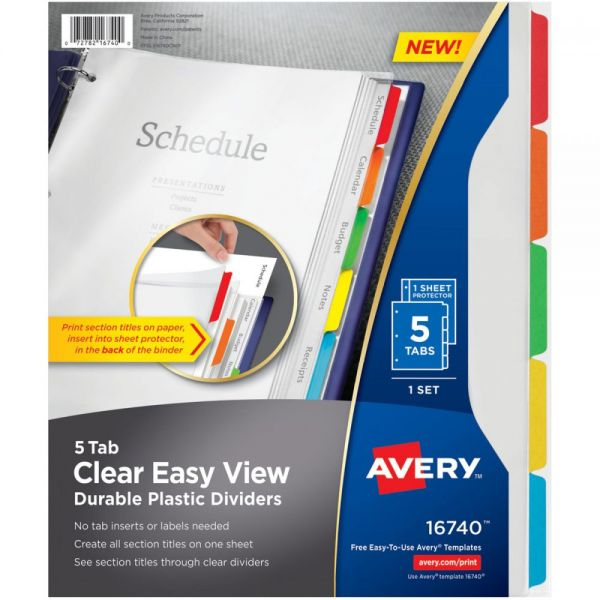 Clear Easy View Dividers 5/Pkg