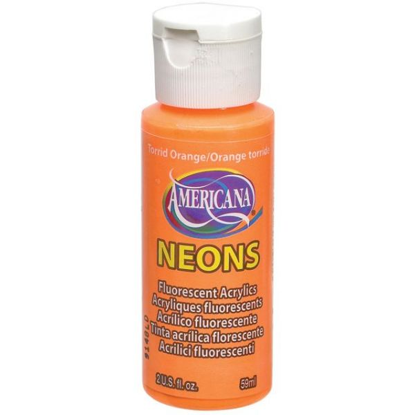 Deco Art Torrid Orange Americana Neons Fluorescent Acrylic Paint