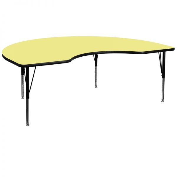 Flash Furniture Height Adjustable Kidney Shaped Activity Table