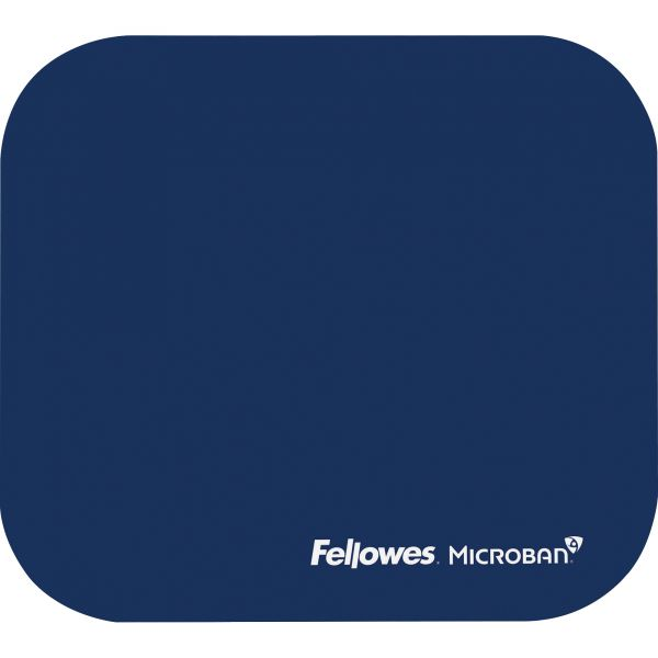 Fellowes Microban Mouse Pad - Blue
