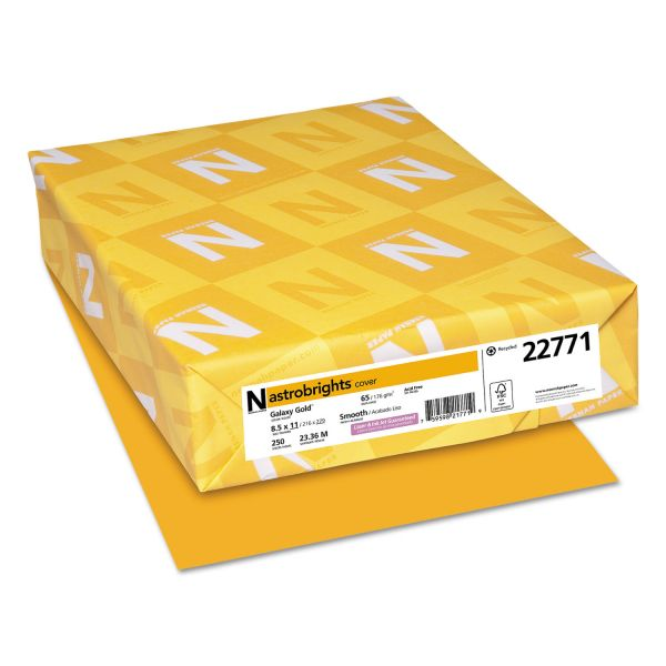 Neenah Paper Astrobrights Galaxy Gold Colored Card Stock
