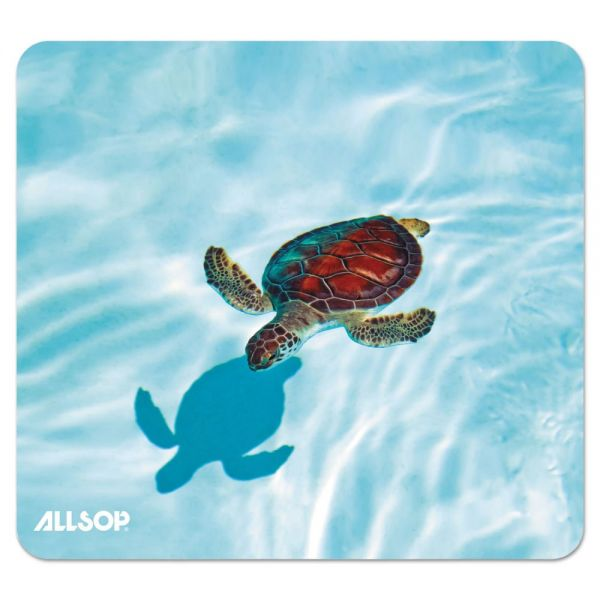 Allsop Naturesmart Mouse Pad, Turtle Design, 8 1/2 x 8 x 1/10