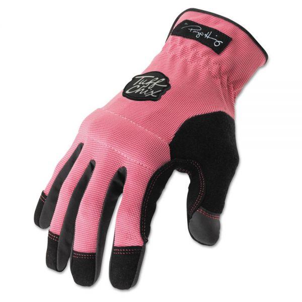 Ironclad Tuff Chix Women's Gloves, Pink/Black, Medium