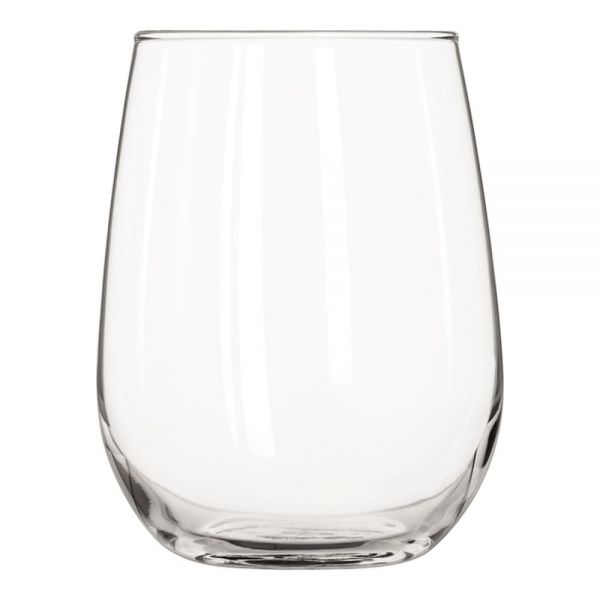 Libbey Stemless 17 oz White Wine Glasses