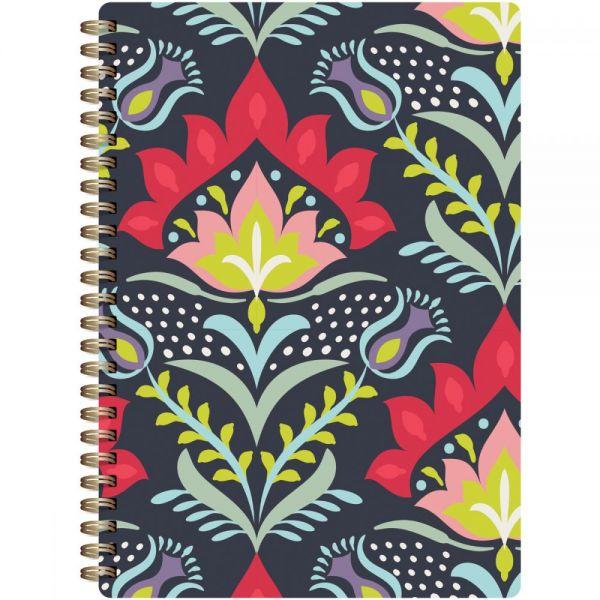 "Botanical Composition Spiral-Bound Notebook 7""X9.5"""