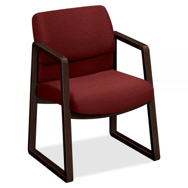 HON 2400 Hardwood Sled Base Guest Chair