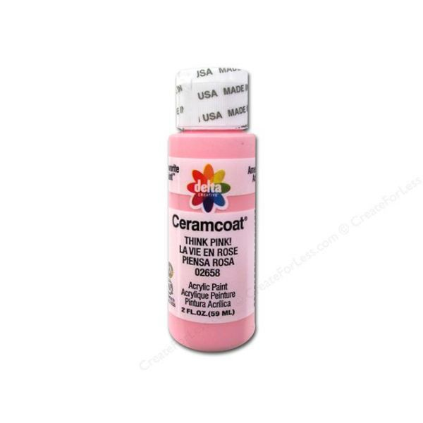 Ceramcoat Think Pink Acrylic Paint