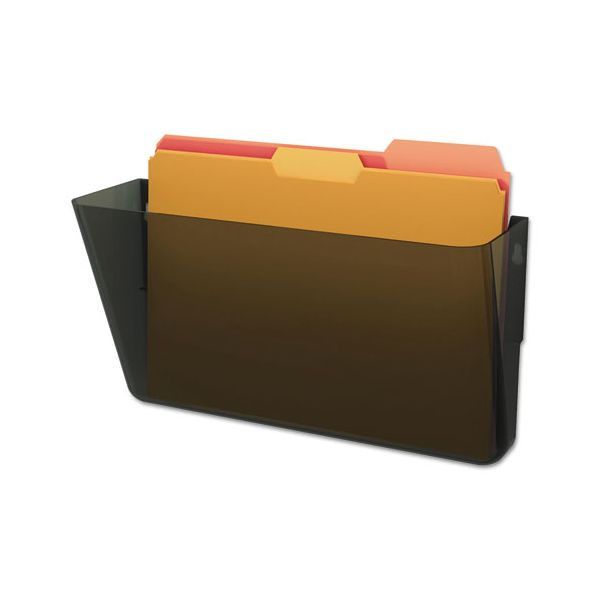 deflecto DocuPocket Stackable Wall Pocket, Letter, 13 x 7 x 4, Smoke