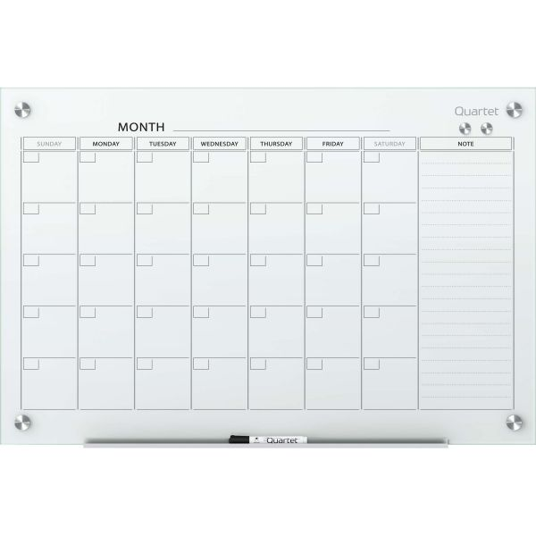 Quartet Infinity Magnetic Glass Dry-Erase Calendar Board