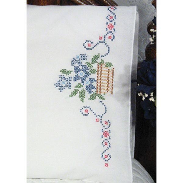 Fairway Stamped Perle Edge Pillowcases