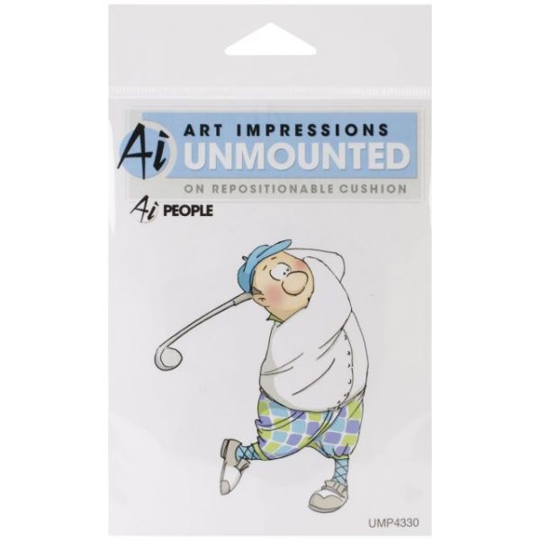"Art Impressions People Cling Rubber Stamp 3.5""X2.75"""