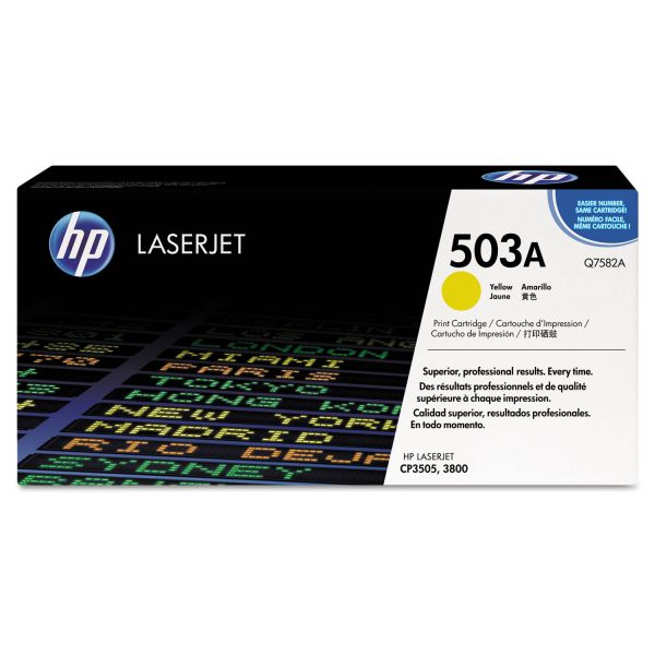 HP 503A Yellow Toner Cartridge (Q7582AG)