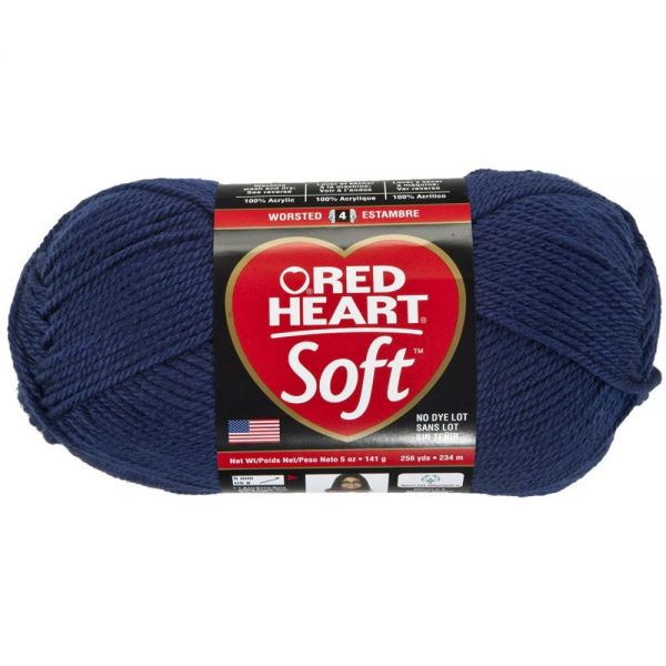 Red Heart Soft Yarn - Navy
