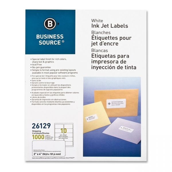 Business Source Shipping Labels