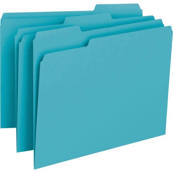 Smead Teal Colored File Folders