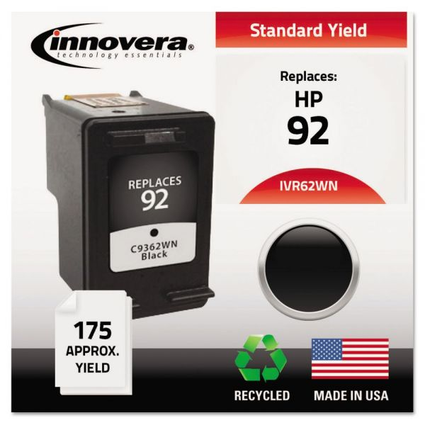 Innovera Remanufactured C9362WN (92) Ink, Black