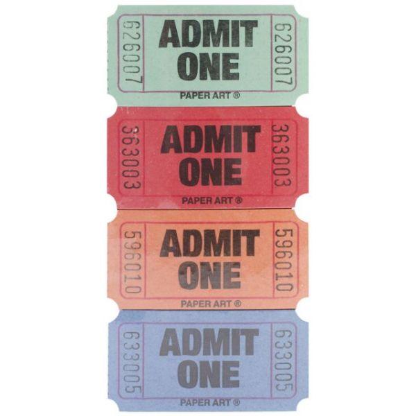 Admit One Tickets 2000 Tickets/Roll