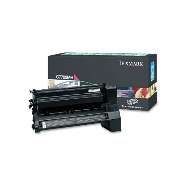 Lexmark C7700MH Magenta High Yield Return Program Toner Cartridge