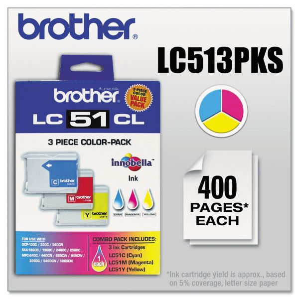 Brother LC513PKS Color Combo Pack Ink Cartridges