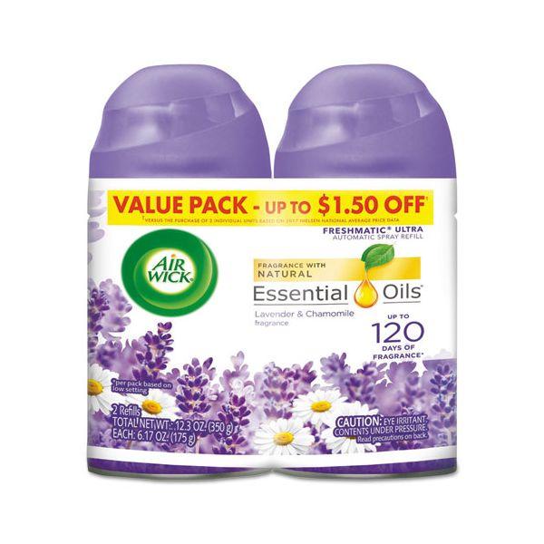 Air Wick Freshmatic Ultra Spray Refill, Lavender/Chamomile, Aerosol, 6.17oz,2/PK, 3 PK/CT