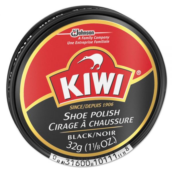 SC Johnson KIWI Black Shoe Polish, 32 g Tin, 144/Carton