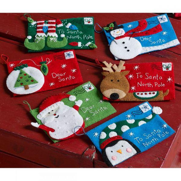 Letters To Santa Envelopes Felt Applique Kit