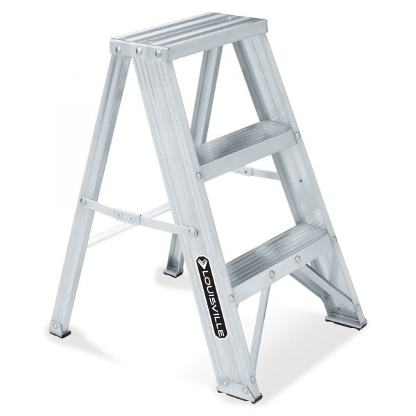 Davidson #429 Aluminum Two-Step Stool with Side Locks