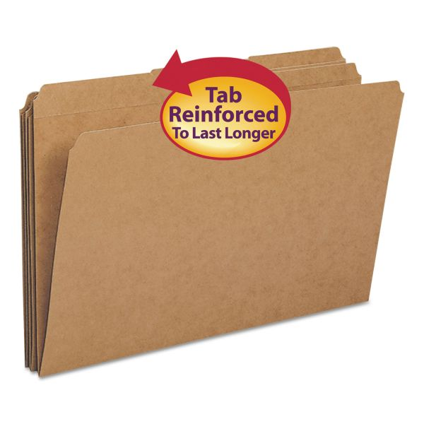Smead Kraft Colored File Folders with Reinforced Tabs