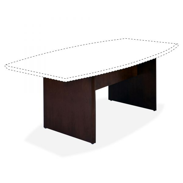 Tiffany Industries Corsica Series Boat-Shaped Conference Table Base, 96w x 29-1/2h, Mahogany, 2/PR