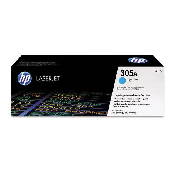 HP 305A Cyan Toner Cartridge (CE411A)