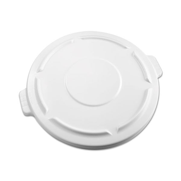 Rubbermaid Commercial Vented Round Brute Flat Top Lid