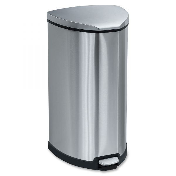 Safco Step-On 10 Gallon Trash Can With Lid