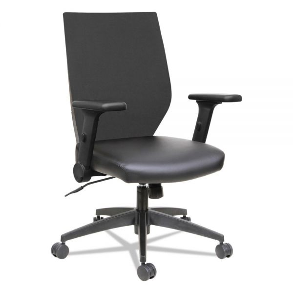 Alera EB-T Series Syncho Mid-Back Chair with Flip-Arms