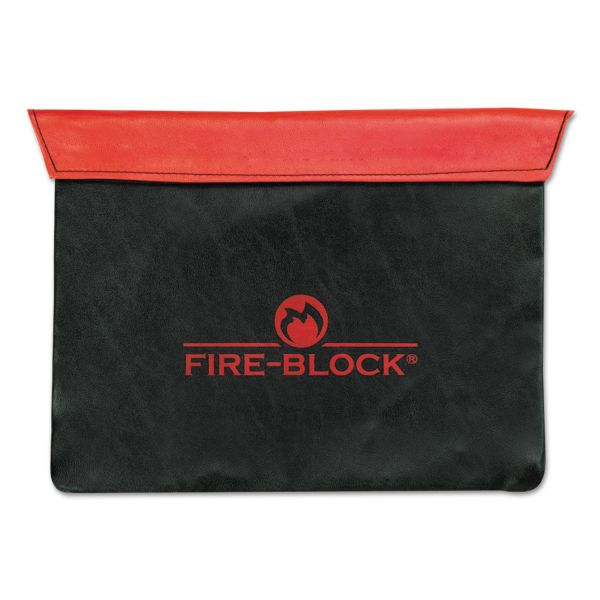 MMF Industries Fire-Block Document Portfolio, 12 1/2 x 10 x 1/2, Red/Black