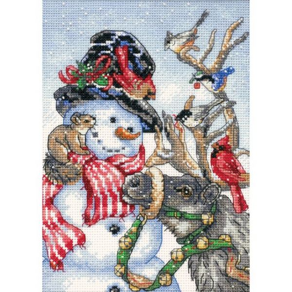 Dimensions Gold Petite Snowman & Reindeer Counted Cross Stitch Kit