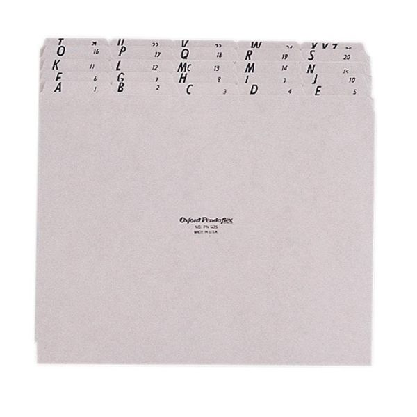 Esselte Alphabetic Top Tab Pressboard File Guides