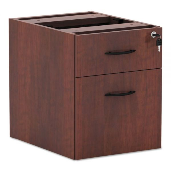 Alera Valencia Series 3/4 Box/File Pedestal, 16w x22d x 22h, Medium Cherry