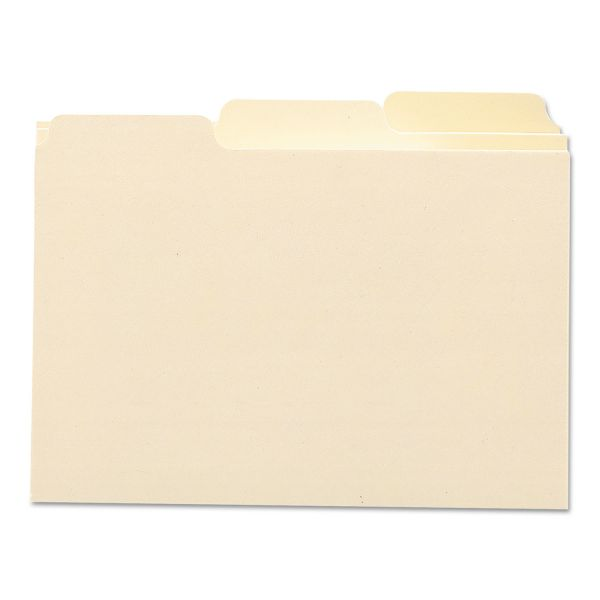 Smead Self-Tab Card Guides, 1/3 Tab, Manila, 5 x 3, 100/Box
