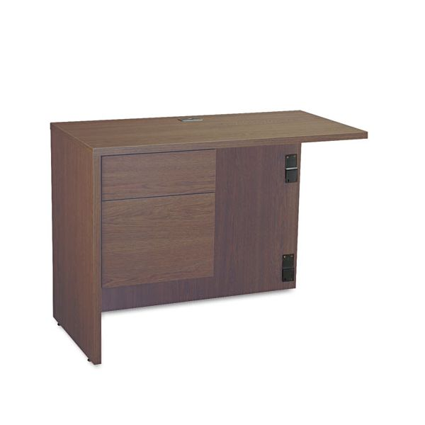 "Global Genoa ""L"" Workstation Return, Left, 40w x 20d x 29h, Mahogany"