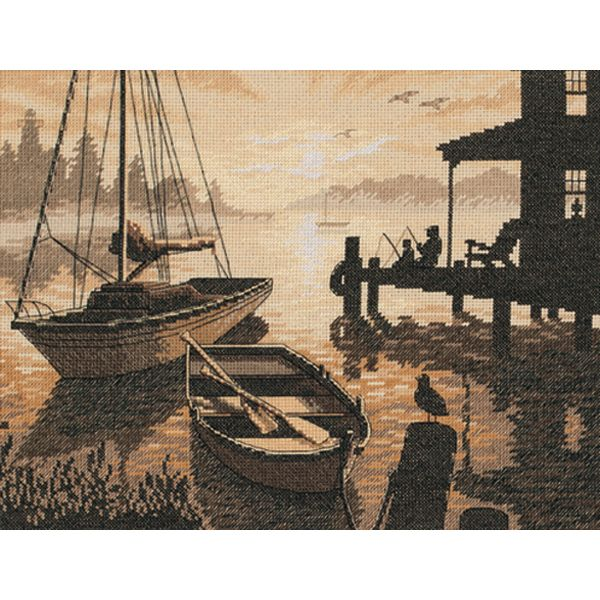 Dimensions Peaceful Silhouette Counted Cross Stitch Kit