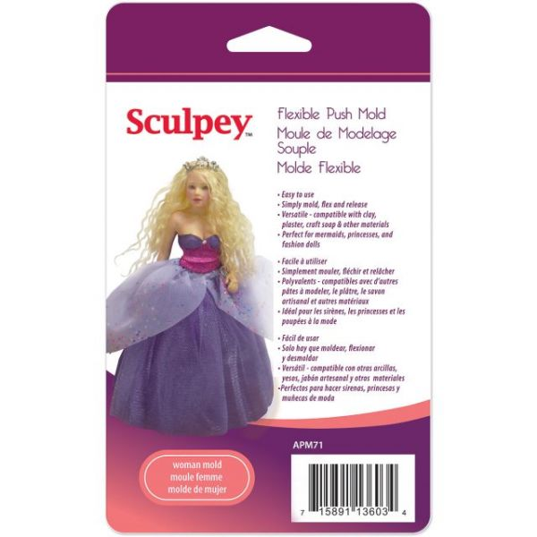 Sculpey Flexible Push Mold
