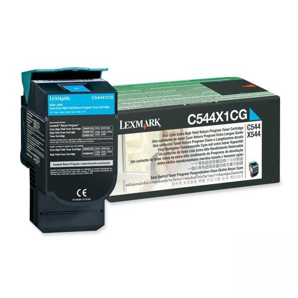 Lexmark C544X1CG Cyan Extra High Yield Return Program Toner Cartridge