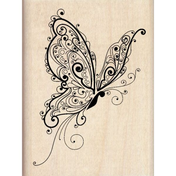 "Inkadinkado Mounted Rubber Stamp 3""X2.25"""