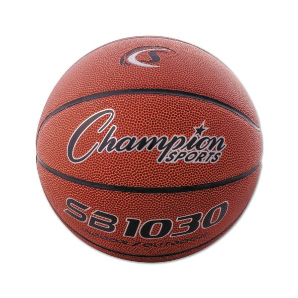 """Champion Sports Composite Basketball, Official Intermediate, 29"""", Brown"""