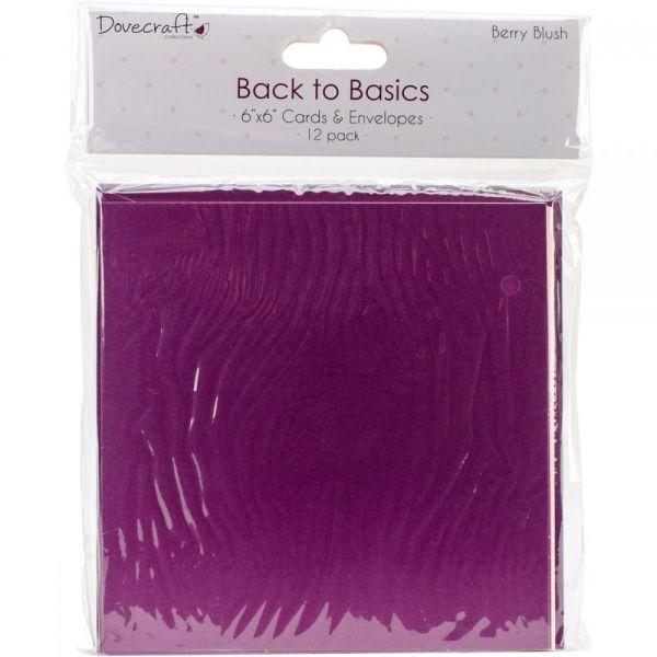"Dovecraft Back To Basics Cards & Envelopes 6""X6"" 12/Pkg"