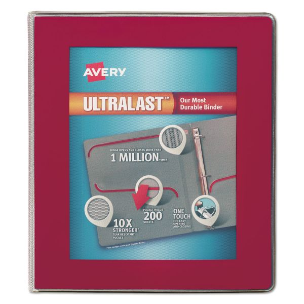 "Avery UltraLast 1"" 3-Ring View Binder"